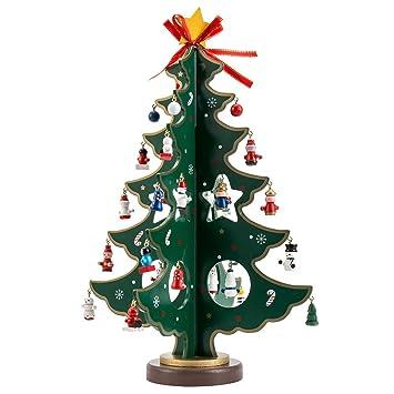 Tropicalboy Mini Weihnachtsbaum Holz Tisch Deko Weihnachten Baum Dekoration  Weihnachtsdeko Weihnachtsbaumschmuck DIY Geschenk (L: