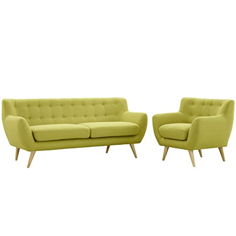 Modway Remark Mid-Century Modern Sofa and Armchair,Modway