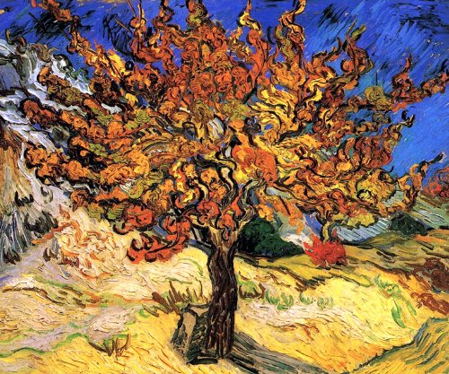 Mulberry Wall Border (Mulberry Tree by Vincent Van Gogh, premium wall decal)