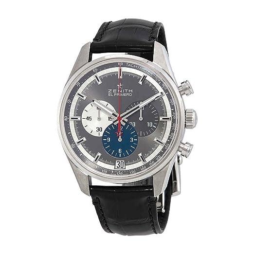 Zenith Chronomaster El Primero Cronógrafo Automático Gris Dial Reloj para Hombre 03.2040.400/26.C496: Amazon.es: Relojes