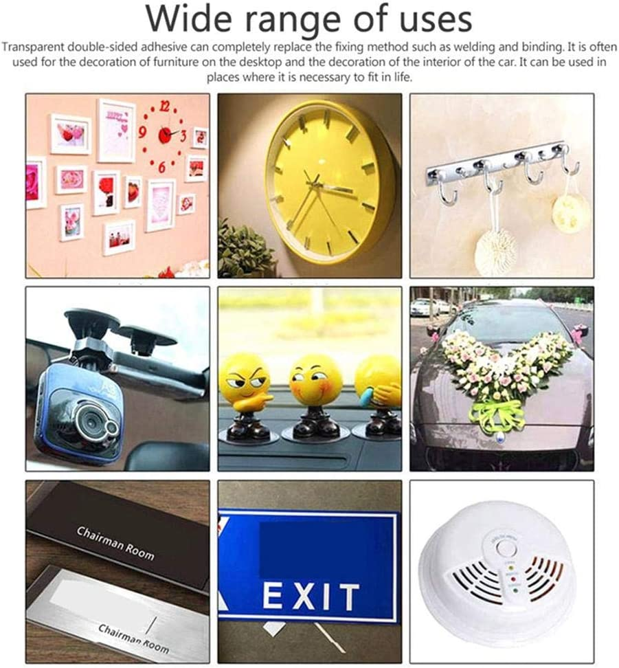 Anti-Slip Nano Washable Sticky Reusable Removable Transparent Gel Tape for Wall Paste Photos Posters Fix Carpet Mats Moshbu Traceless Double Sided Adhesive Tape