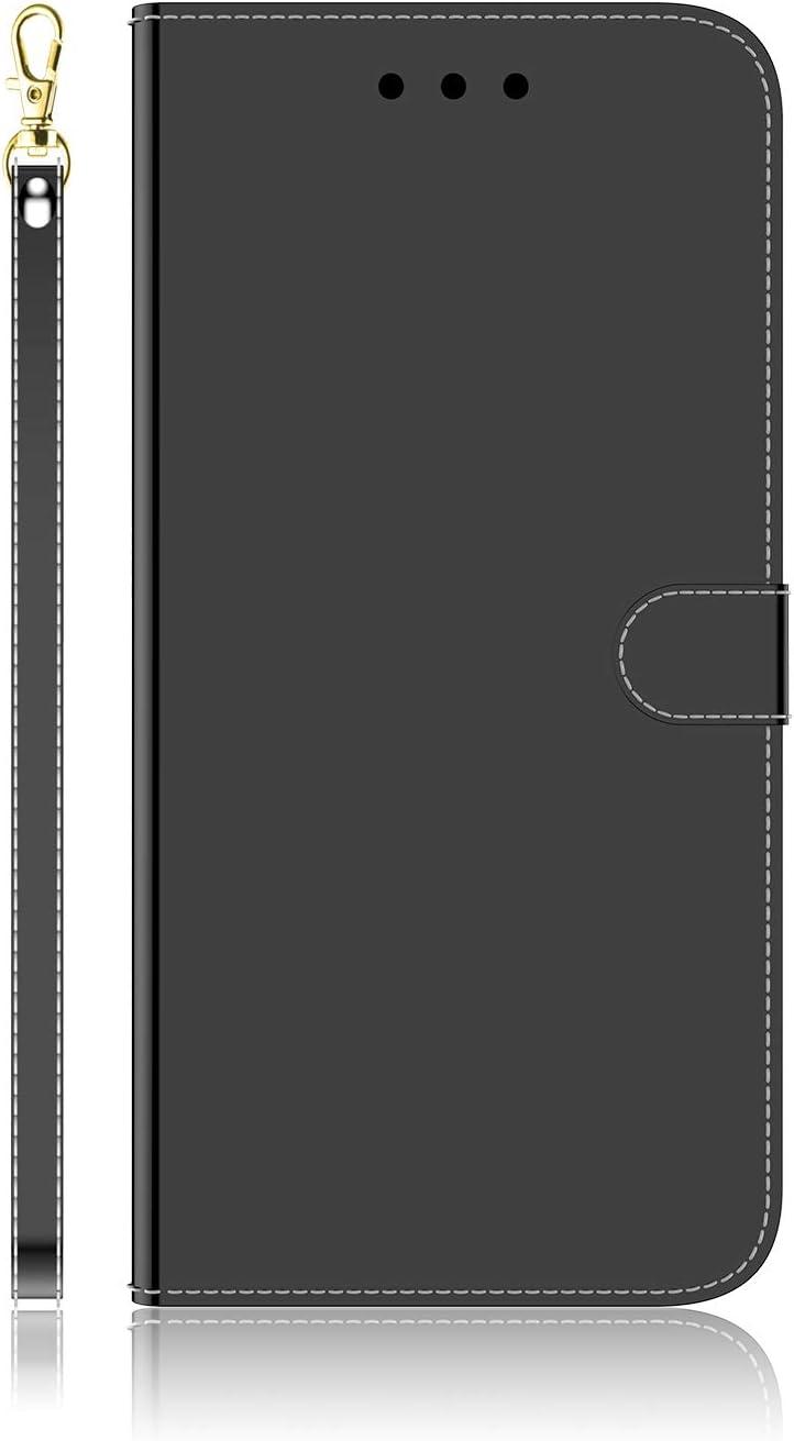 Docrax iPhone 7 Plus/iPhone 8 Plus ケース 手帳型 スタンド機能 財布型 カードポケット マグネット アイフォン7Plus / 8Plus 手帳型ケース レザーケース カバー - DOTXI170027 黒