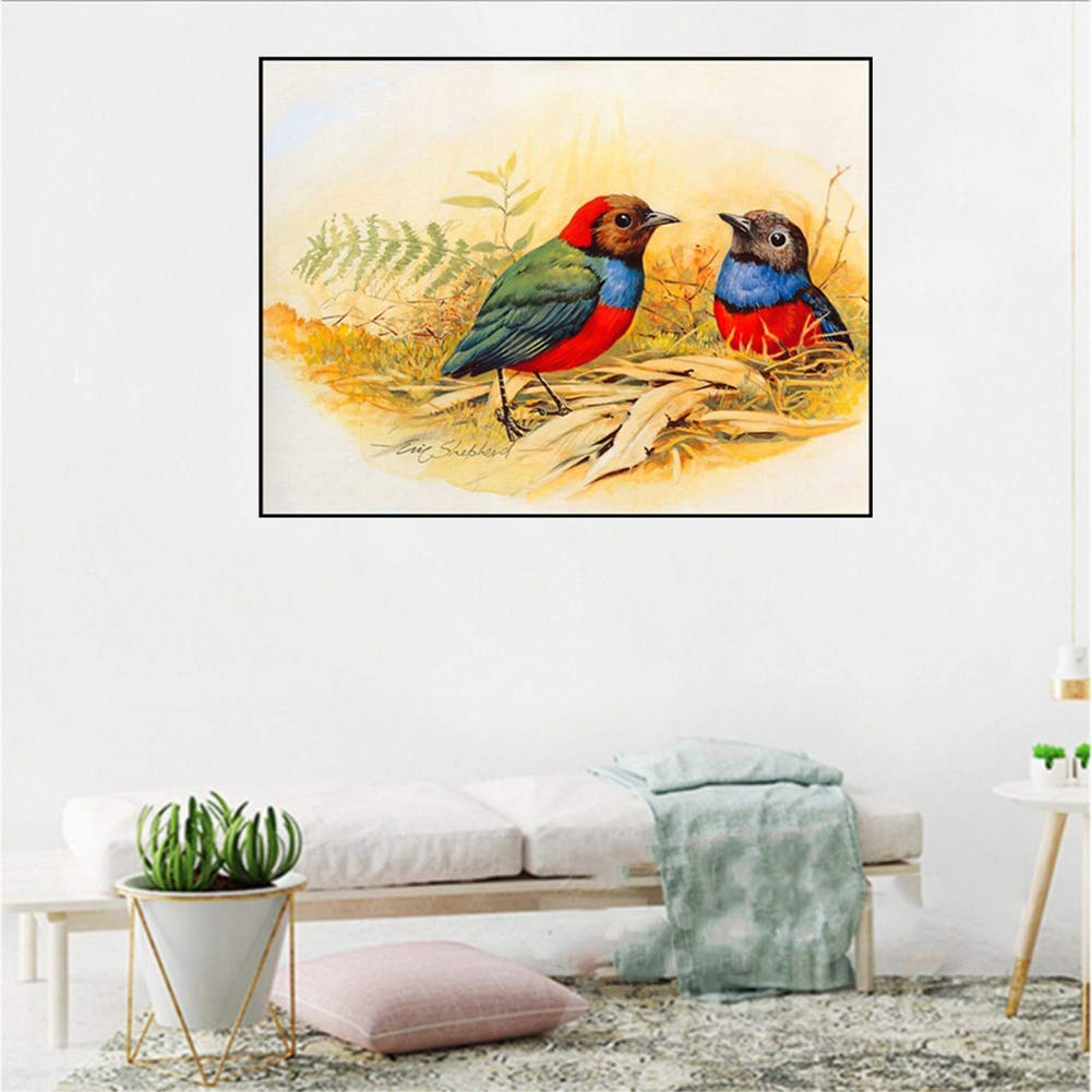 8443 osmanthusfrag 30/ x 38/ cm Colorful Bird Round Partial Diamond Painting DIY Cross Stitch Home decor8446/ 46