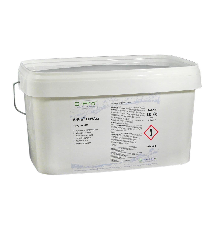 S-Pro EisWeg Auftau-Winter-Streu-Granulat 25kg | konz. Enteiser-Streumittel als Streusalz-Alternative | tierfreundlich, pflanzen- & umweltschonend | schnelltauend, langanhaltend eis- und schneefrei Profichemie.com