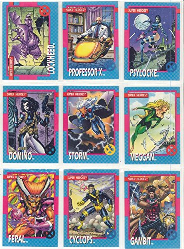 The Uncanny X-Men Series 1 Trading Card Complete Set By Jim Lee (1992) 1992 Marvel Universe