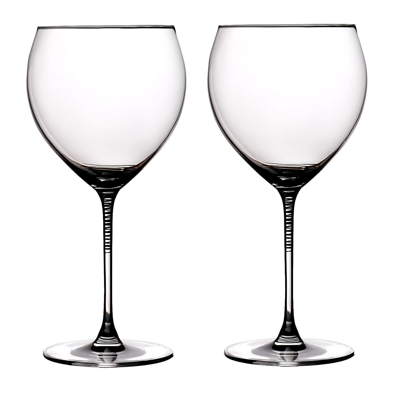 Ella Sabatini Gold Spirale Copa Gin & Tonic Glass 24 floz Set of 2 | Gold Spiral Balloon Gin G&T Glass