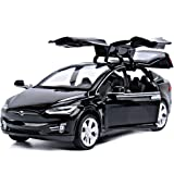Toy Car Alloy Pull Back Cars with Sound and Light Kids Toys 1:32 Scale Model X 90 (Black)
