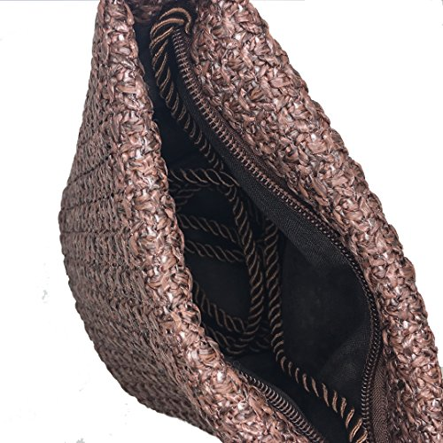 Little Bag Handbag Straw Beach Woven Tote Women's Bag Coffee Bech Summer Ccassie Shoulder Sea wnq1xRfYXz
