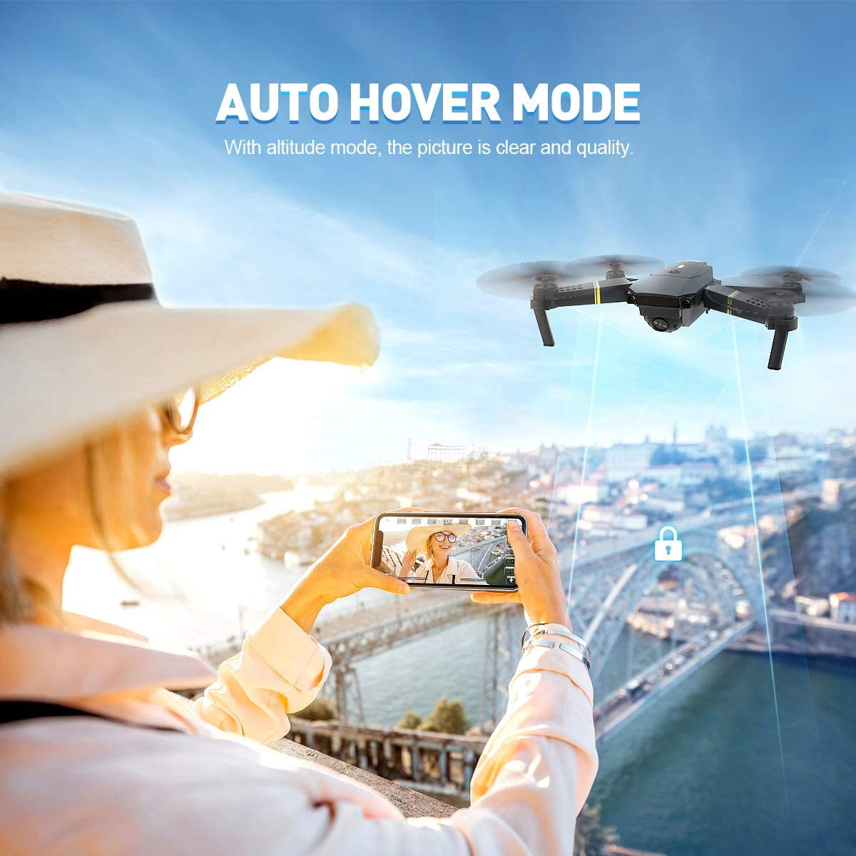 Eachine E58 pocket drone review about altitude mode and auto hover mode