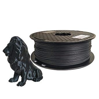 Amazon.com: PLA Max Filamento PLA negro 0.069 in filamento ...