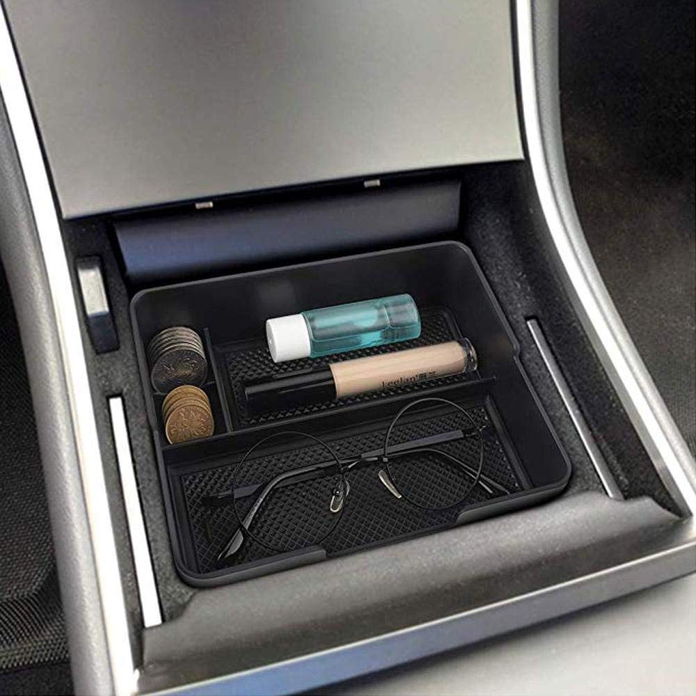 Bandeja organizadora de Consola Central para Accesorios Tesla Modelo 3 contenedor de Caja de Almacenamiento Yeldou