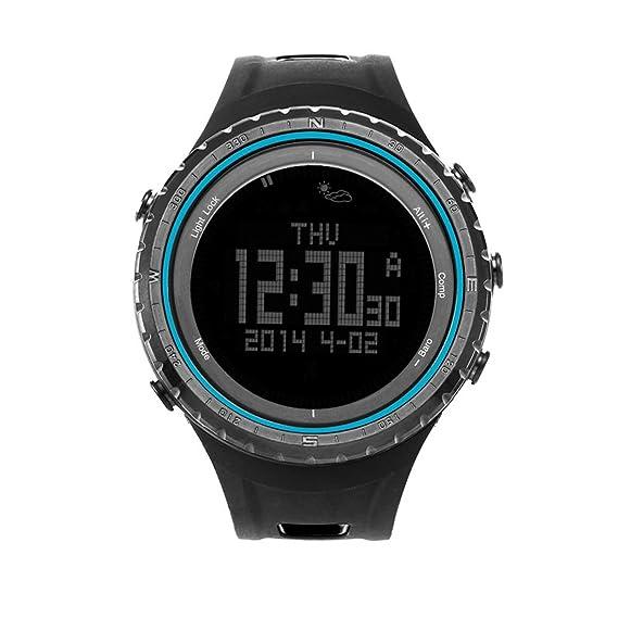 Sunroad FR801B – Reloj deportivo multifunción podómetro cronógrafo altímetro barómetro termómetro compasstimer pantalla LCD el contraluz