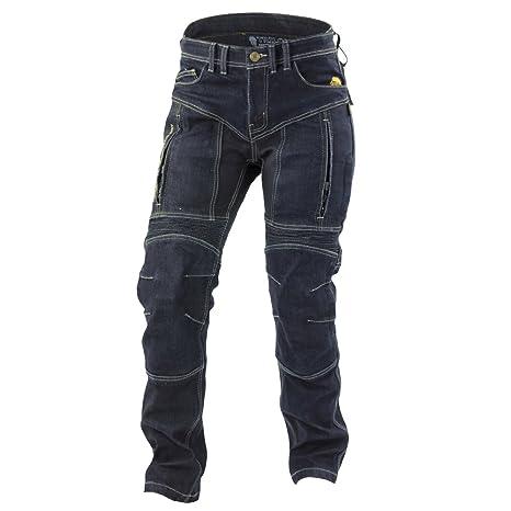 Trilobite motocicleta impermeable pantalones vaqueros, azul oscuro, tamaño 28
