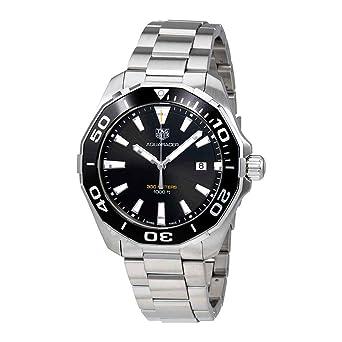 0bbf8f0fcb77 Image Unavailable. Image not available for. Color: Tag Heuer Aquaracer 300M  Quartz Black Dial Mens Watch ...