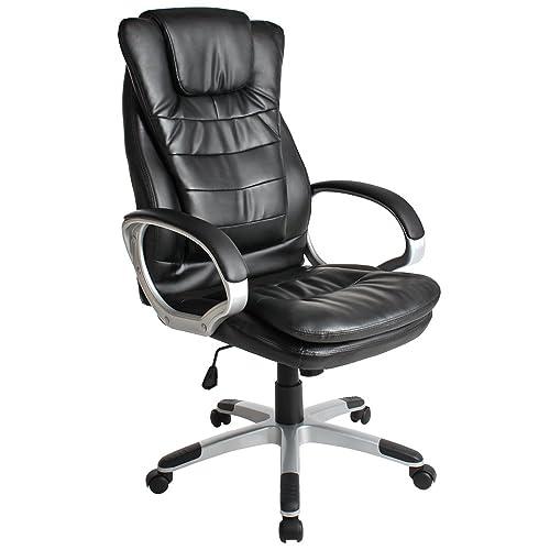 TecTake 400578 Chaise fauteuil hauteur réglable, avec double rembourrage