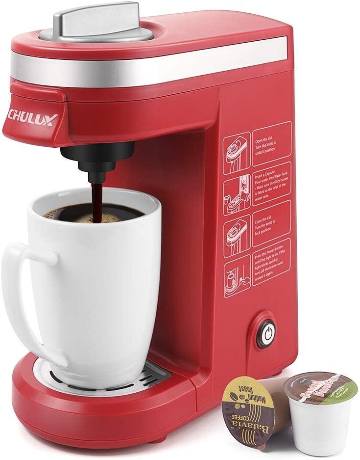 CHULUX Taza cafetera de viaje cervecero café para K-tazas Rojo ...