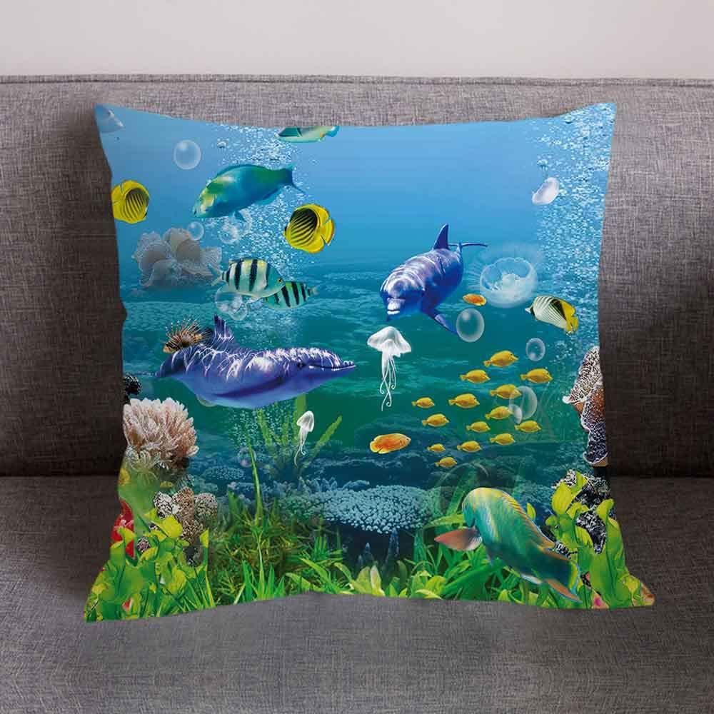 Pgojuni Fresh Style Scenery Printing Pillowcase Fashion Pillow Case Polyester Sofa Car Cushion Cover Home Decor Cover Pillow Case1pc (45cm X 45cm) (D) by Pgojuni_Pillowcases (Image #2)