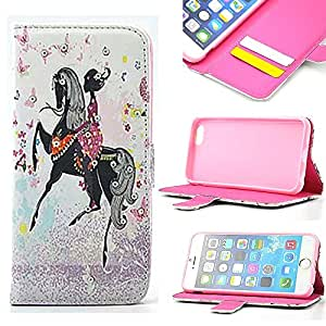 "iPhone 6 Case, iPhone 6 4.7"" Case, Carryberry Dream Girl Pattern Premium PU Leather Wallet Flip Protective Skin Case with Magnetic Closure for iPhone 6 4.7"""