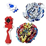 #8: Bey Burst Blade battling XENO XCALIBUR .M.I and Lost Longinus N.Sp with Launcher Stater set metal fusion Battle Top