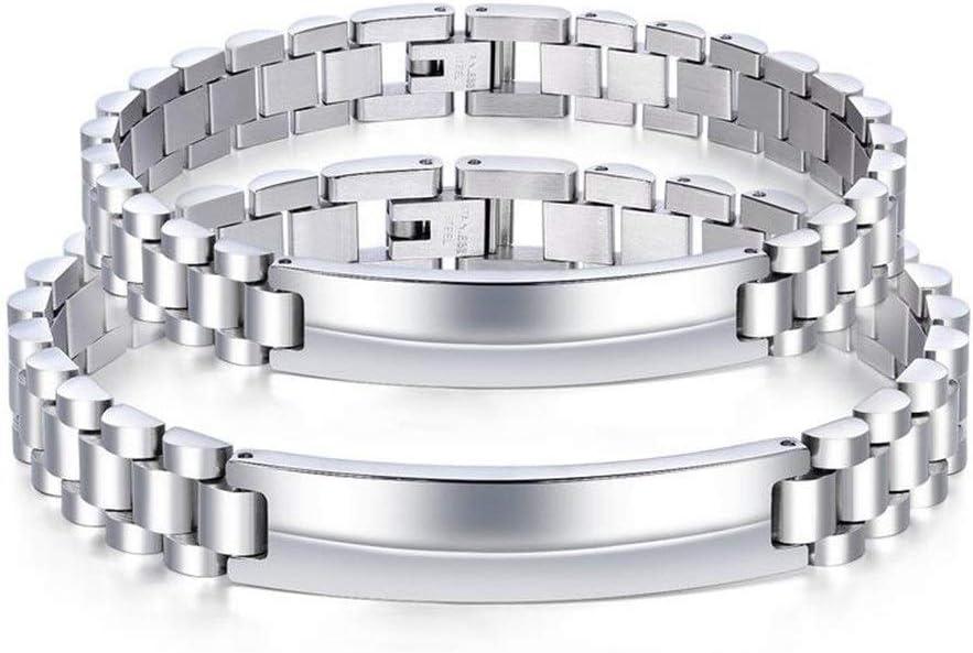 Women/'s Men/'s design simple bracelet en acier inoxydable Titane Hommes Bracelet Q