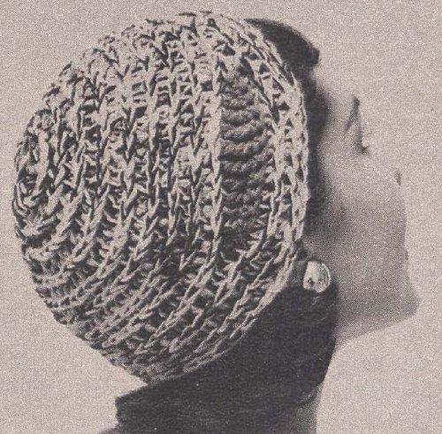 (Tri-Color Calot Hat Cap Beanie Tam Crochet Pattern)