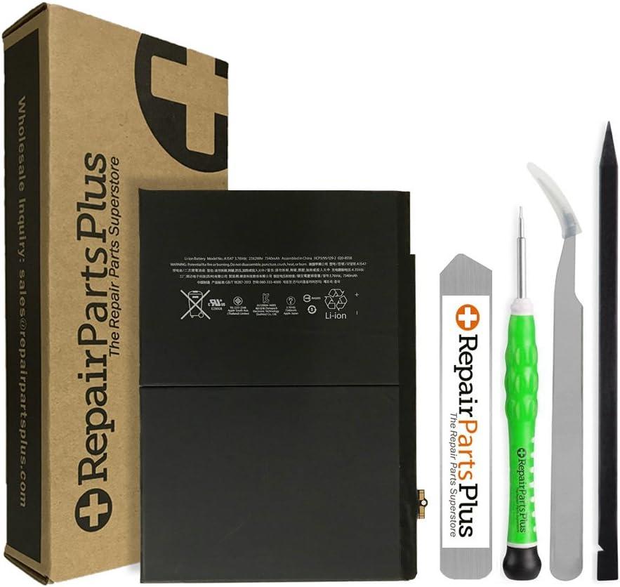 RepairPartsPlus Premium Battery Replacement Kit for Apple iPad Air 2 with Repair Tools and 7340 mAh Li-ion Battery