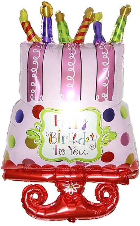 V-SOL Globo Cumpleaños Fiesta Decoración Happy Birthday ...