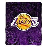 NBA Basketball Los Angeles Lakers Blanket Micro Plush Raschel Throw 46' x 60'