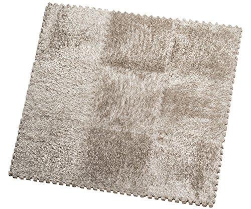 HemingWeigh Fuzzy Area Rug - 9 Fluffy Carpet Tiles for Kids - Ideal for Nursery Décor, Baby Room, Playroom and Kids Room. Plush, Velvet-like Texture, Anti-slip & Durable Rug (Grey) (Tile Rug)