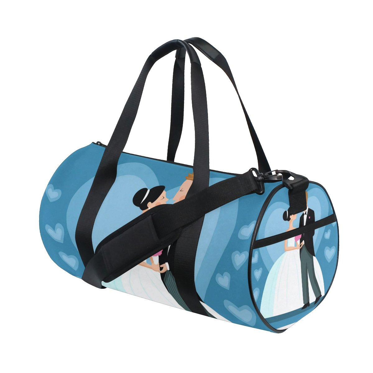 Wedding Party Lover You Bride and Groom Lightweight Canvas Sports Duffel Bag