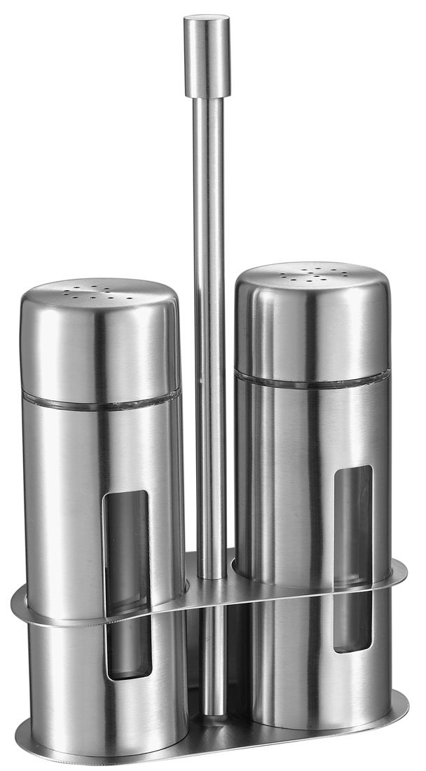 Visol Gilberte Stainless Steel Salt and Pepper Shaker Set by Visol