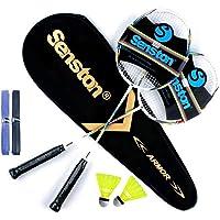 Senston Graphit Badmintonset Carbon professionele badmintonracket lichtgewicht badmintonracket veer set voor training…