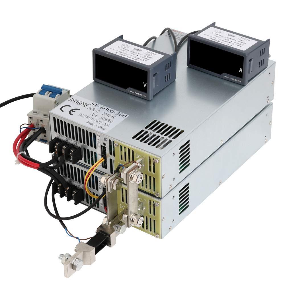 New 6000W 20A 300V Switching Power Supply 300V 20A 6000W AC-DC High Power Power Supply 0-5V Analog Signal Control SE-6000-300