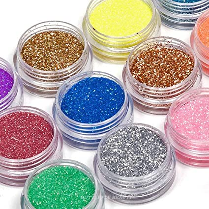 Buy 350buy 24 Colors 3d Nail Art Glitter Acrylic Powder Decoration