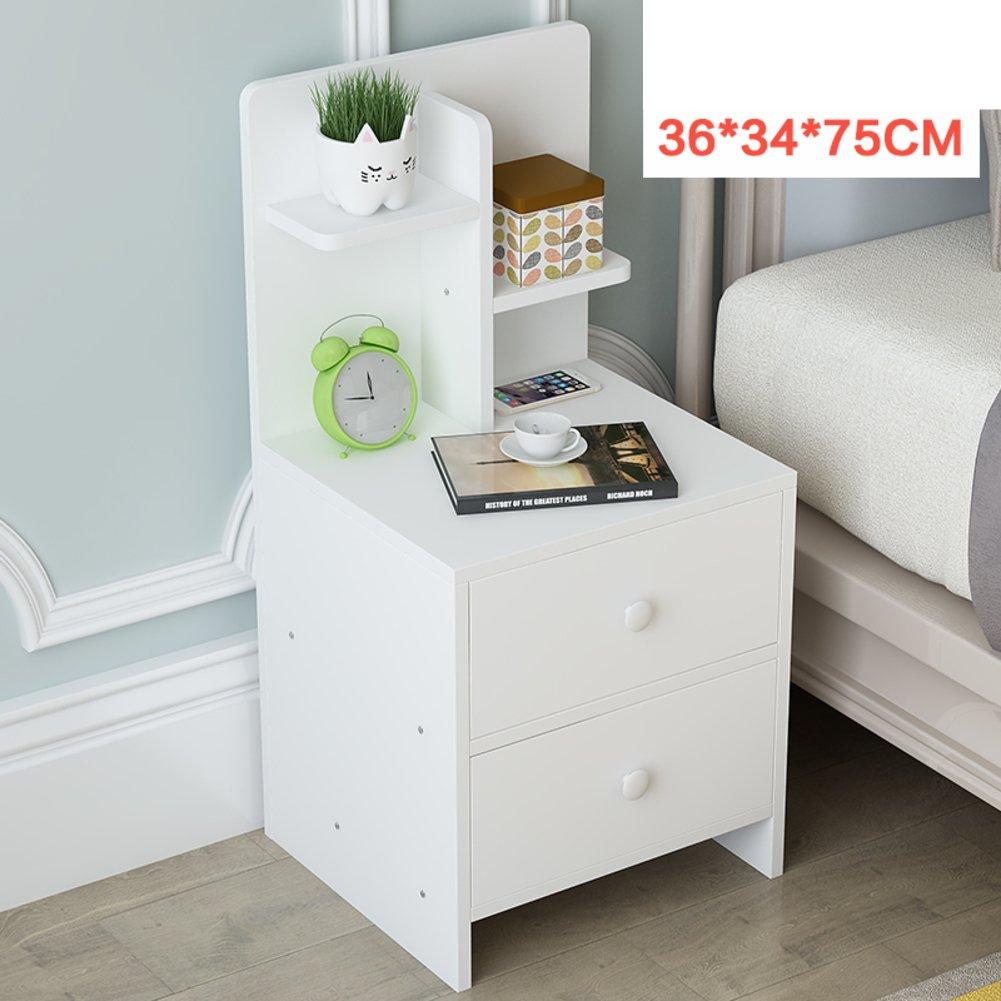 Solid wood storage cabinet [dorm room] Bedroom Assemble bedside cabinet Simple bedside table Modern simple bed cabinet Storage cabinets-N