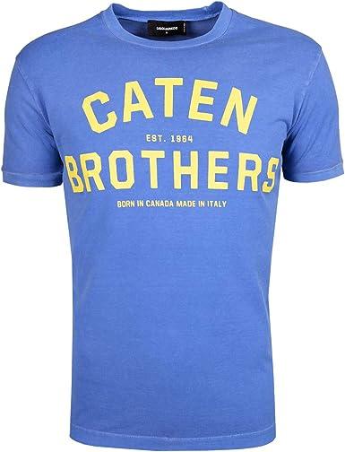 Dsquared2 - Camiseta - Camisetas - para hombre azul XL(FR)/XL(IT)/XL(EU): Amazon.es: Ropa y accesorios