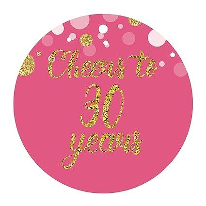 Amazon MAGJUCHE Pink 30th Birthday Or Anniversary Stickers