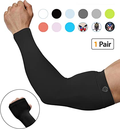 Bee Yourself UV Sun Protective Outdoors Stretchy Cool Arm Sleeves Warmer Long Sleeve Glove