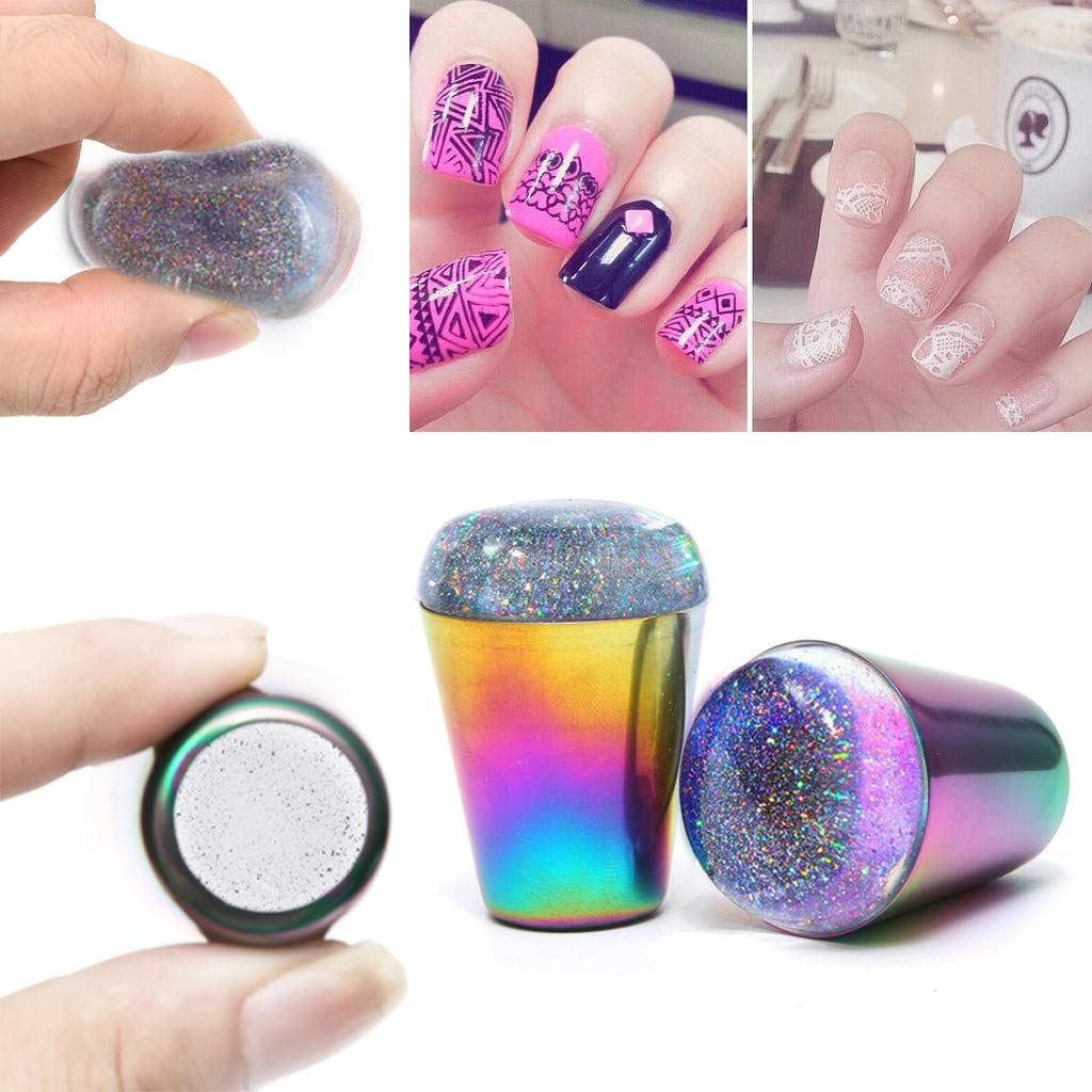 Gaddrt - 1 sello para PC para uñas Colorful Pro Manicura Plantilla ...