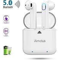 Auriculares Bluetooth, iAmotus Auriculares Inalámbricos Bluetooth 5.0 TWS Auriculares Bluetooth Deportivos con Micrófono Cancelación de Ruido CVC 8.0 Cascos Bluetooth Inalambricos para iOS y Android