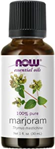 NOW Essential Oils, Marjoram Oil, Normalizing Aromatherapy Scent, Cold Pressed, 100% Pure, Vegan, Child Resistant Cap, 1-Ounce
