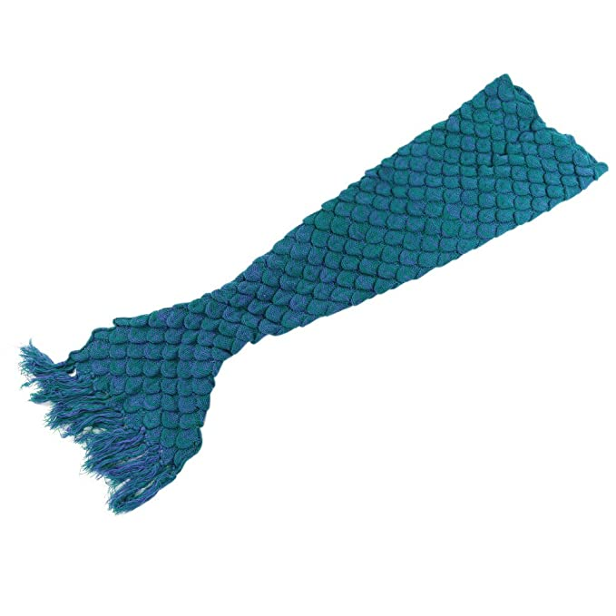 Manta de punto con diseño de cola de sirena, escamas de ganchillo ...