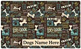 Drymate Custom Personalized Dog Place Mat - Best Friend Green - Personalized Dog Food Mat (Large - 16'' x 28'')