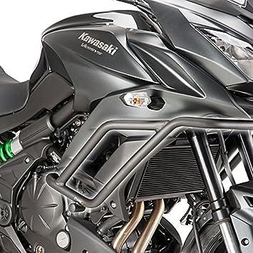 Defensa protector de motor Puig Kawasaki Versys 650 15-17 negro: Amazon.es: Coche y moto