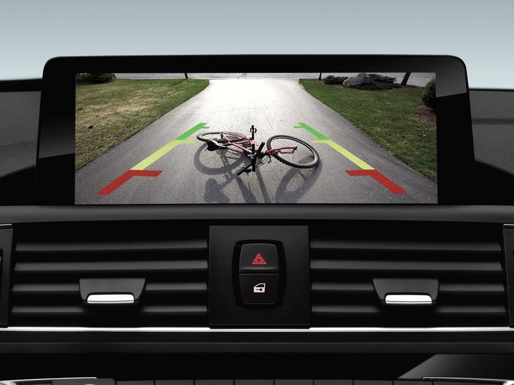 2014-2016 Cooper with 6.5 Inch or 8.Inch LCD Screen W//Lip Mount Camera Automotive Integrated Electronics AIE-BUCAM-MC2 Rear Camera Integration Kit for