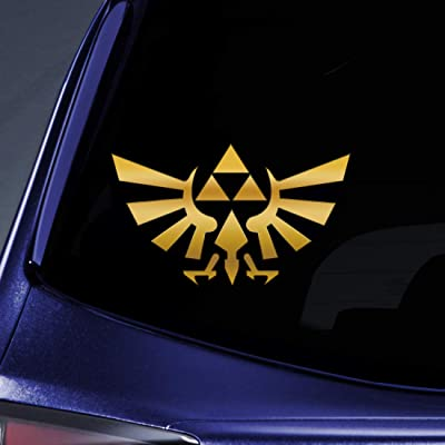 """Bargain Max Decals - Triforce Logo Wings 4"""" Gold Sticker Decal Notebook Car Laptop 4"""" (Gold): Automotive"""