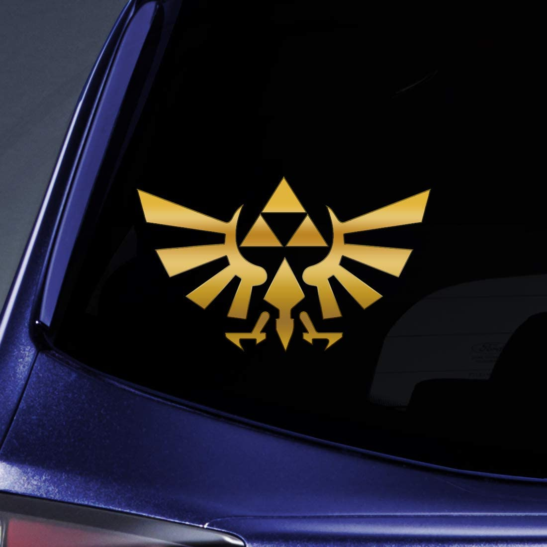 "Bargain Max Decals - Triforce Logo Wings 4"" Gold Sticker Decal Notebook Car Laptop 4"" (Gold)"