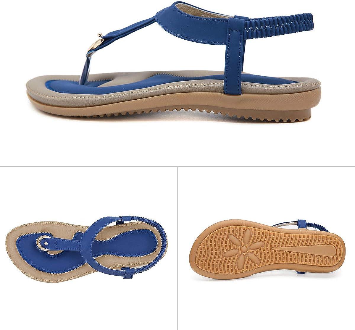 KUONUO Sandales Plates Femme Noir Beige Flip Flops Chaussure Plage Vacances Chaussures de Ville /Ét/é /à Talons Plats Compens/és Tong Confortable