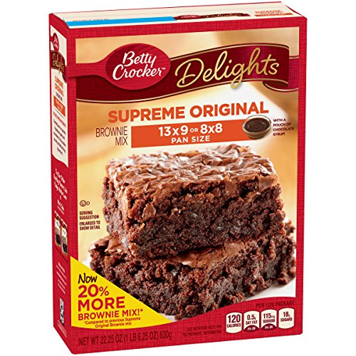 Betty Crocker Delights, Supreme Original Brownie Mix, 22.25 Oz Box (Pack of 8) by Betty Crocker