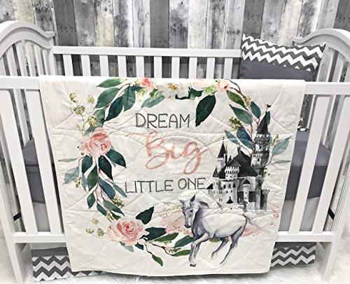Amazon Com Baby Nursery Bedding Set Baby Unicorn Chevron Castle